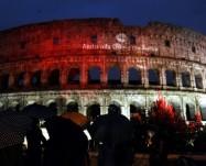 Il Colosseo si tinge di rosso per i martiri cristiani!