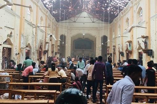 Interno della chiesa cattolica St.Sebastian di Negombo!