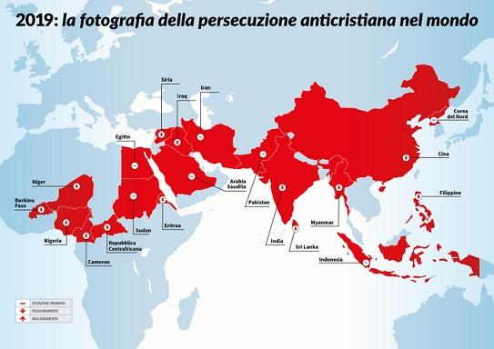 Nel mondo sono perseguitati 300 milioni di cristiani!
